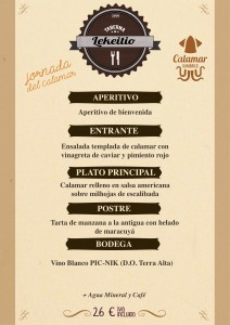 Menu Calamar CAST